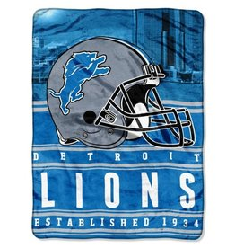 NORTHWEST Detriot Lions 60in x 80in Silk Touch Throw Wrap