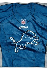 "Detriot Lions 50in x 60in NFL ""Jersey"" Royal Plush Raschel Throw"