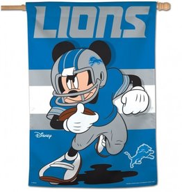 "WINCRAFT Detriot Lions Disney Mickey Mouse 28"" x 40"" House Flag"