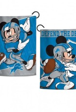 "WINCRAFT Detriot Lions Disney Mickey Mouse 12.5"" x 18"" Garden Flag"