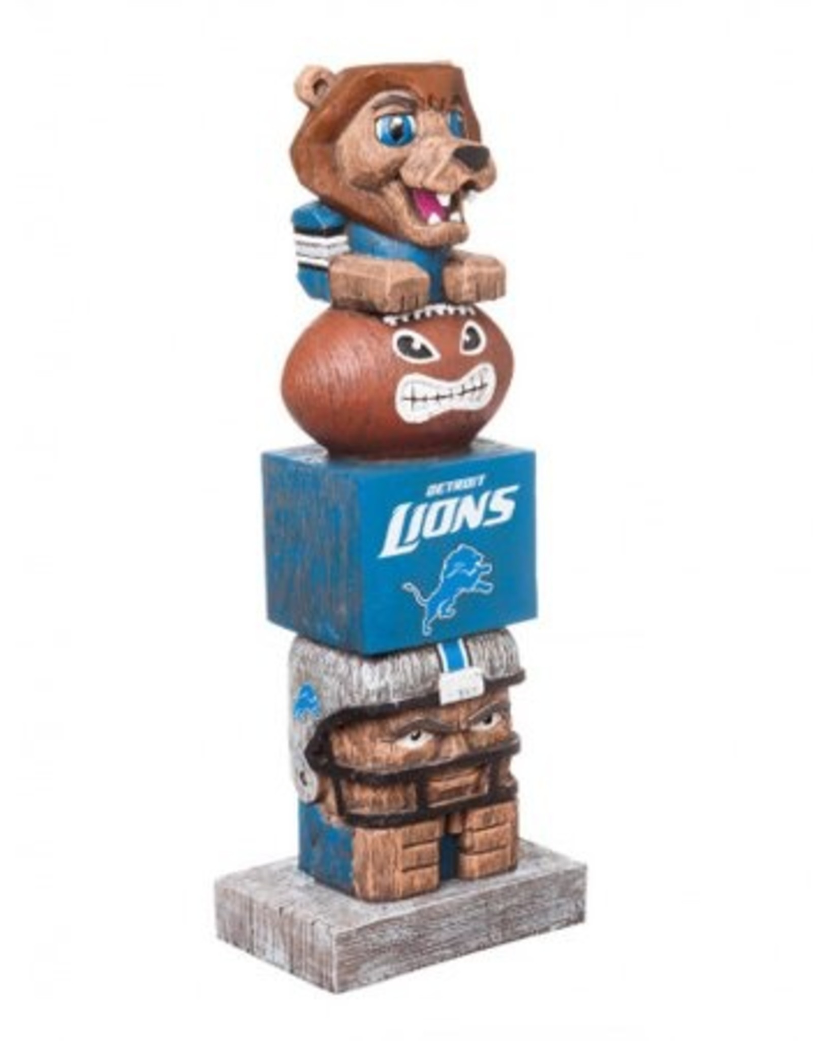 EVERGREEN Detriot Lions Tiki Totem