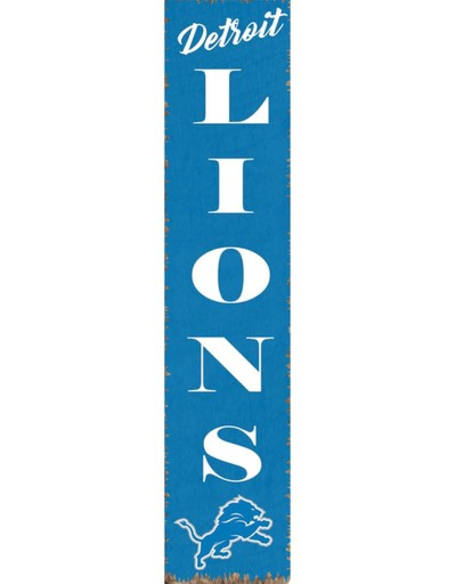 RUSTIC MARLIN Detriot Lions Vertical Rustic Sign