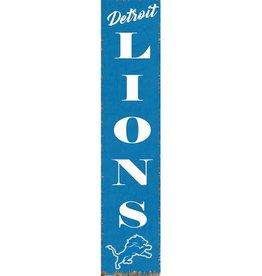 RUSTIC MARLIN Detriot Lions Vertical Rustic Sign