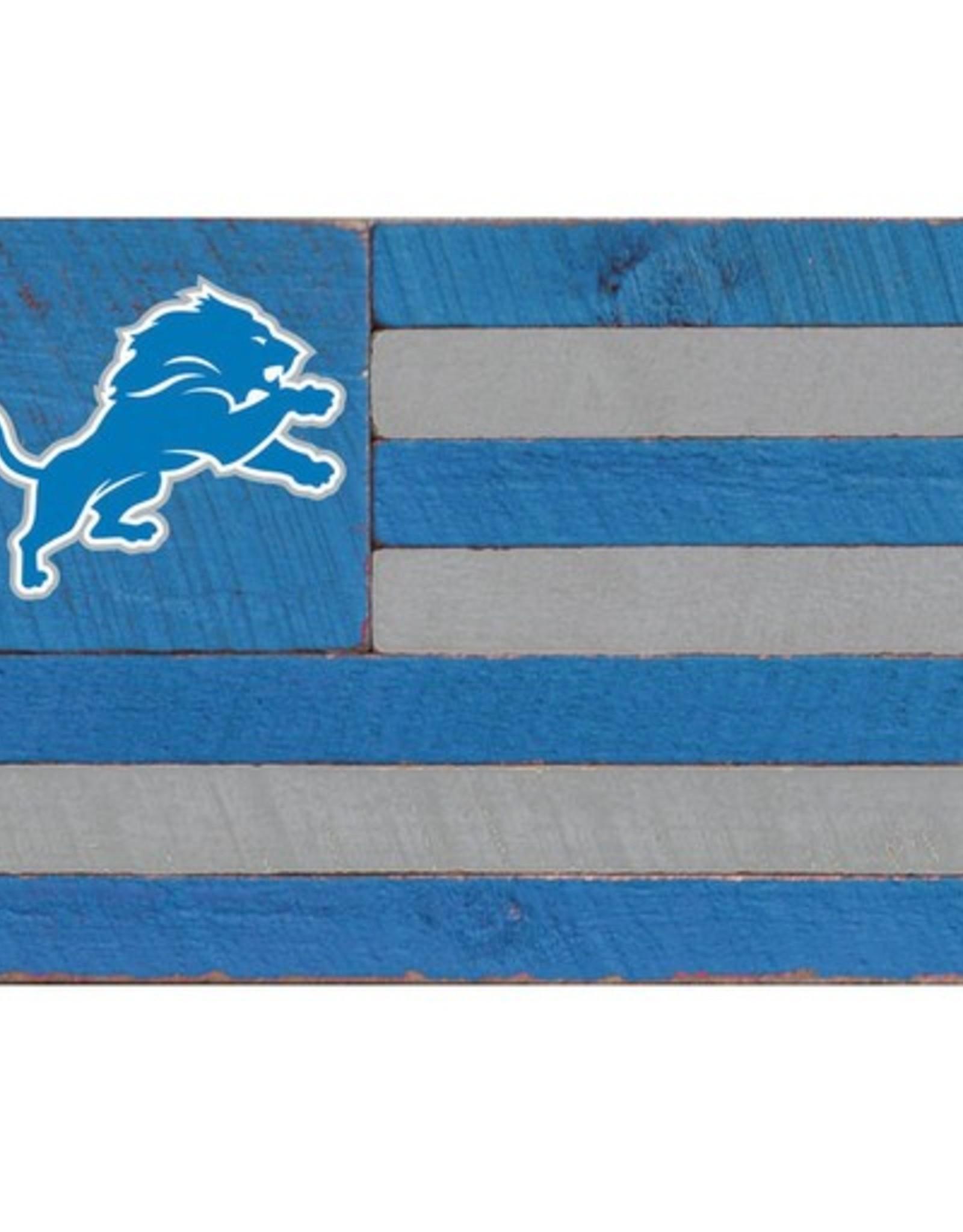 RUSTIC MARLIN Detriot Lions Rustic Team Flag