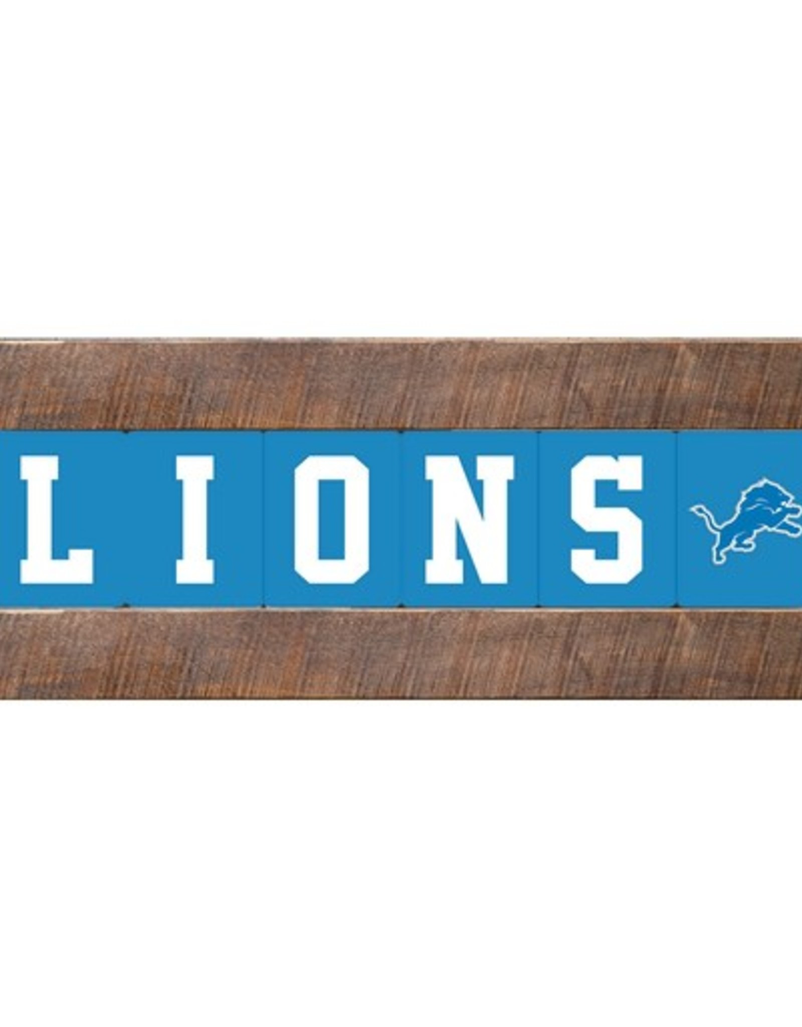 RUSTIC MARLIN Detriot Lions Marlin Classic Wood Sign
