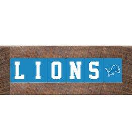 RUSTIC MARLIN Detriot Lions Marlin Classic Wood Sign