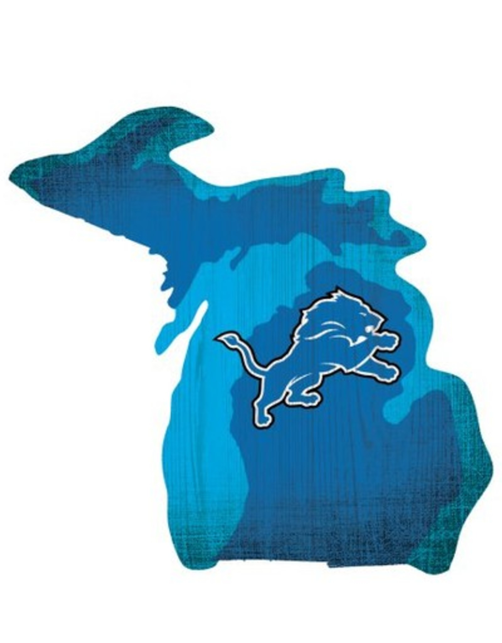 FAN CREATIONS Detriot Lions Team Logo State Sign