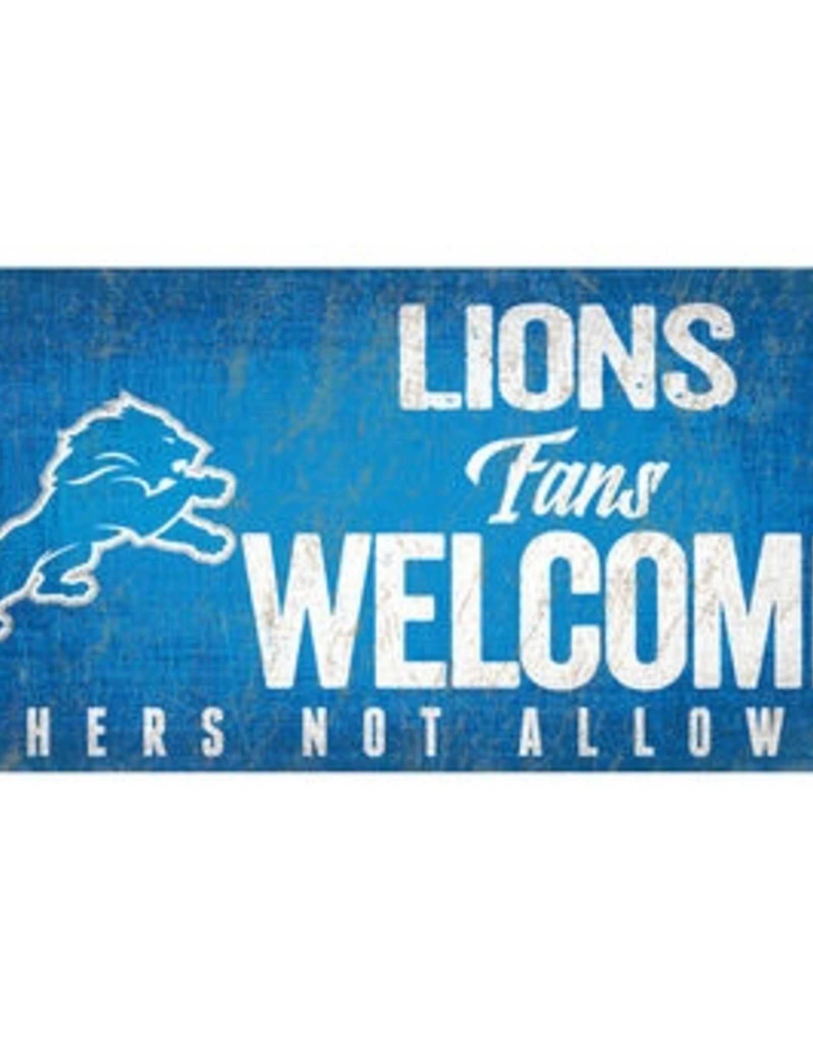 FAN CREATIONS Detriot Lions Fans Welcome Sign