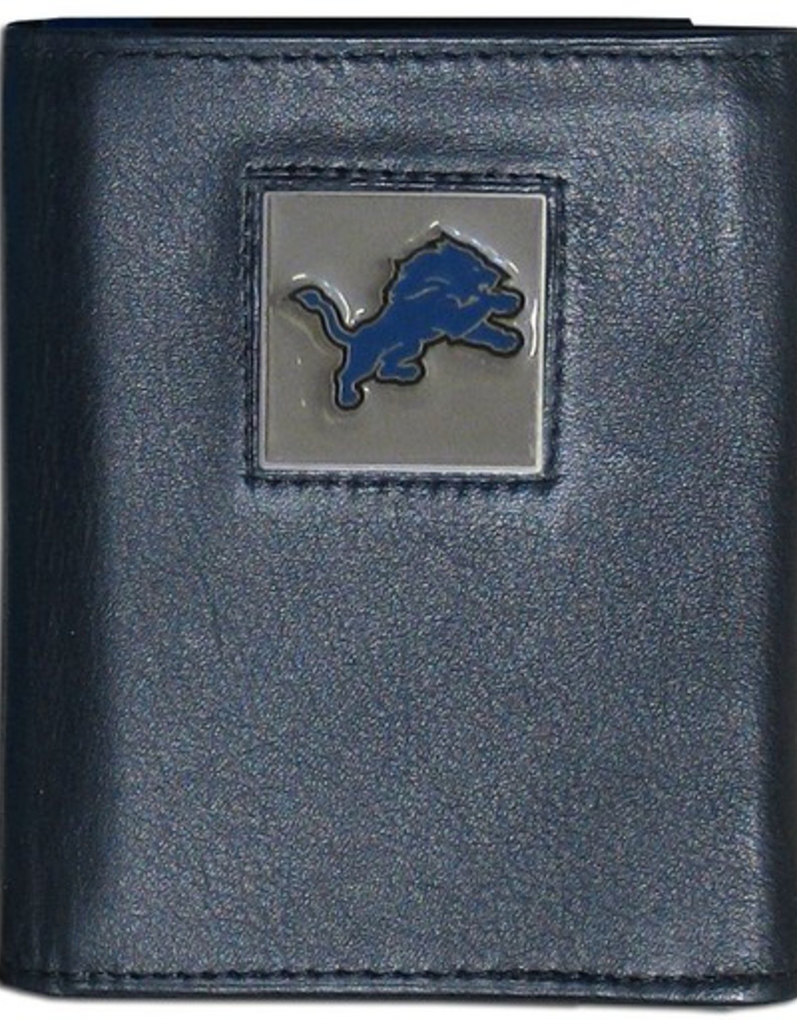 SISKIYOU GIFTS Detriot Lions Executive Black Leather Trifold Wallet