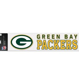 """WINCRAFT Green Bay Packers 4""""x17"""" Perfect Cut Decals"""