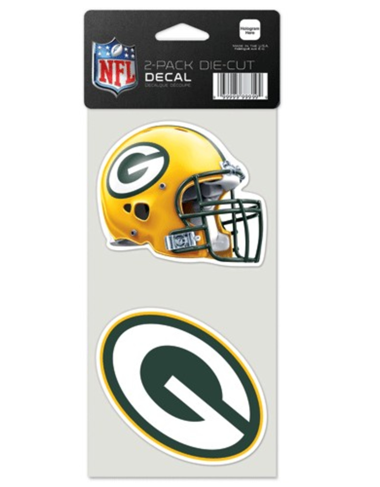 Green Bay Packers Set of Two 4x4 Perfect Cut Decals