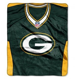 "Green Bay Packers 50in x 60in NFL ""Jersey"" Royal Plush Raschel Throw"