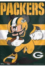 "WINCRAFT Green Bay Packers Disney Mickey Mouse 28"" x 40"" House Flag"
