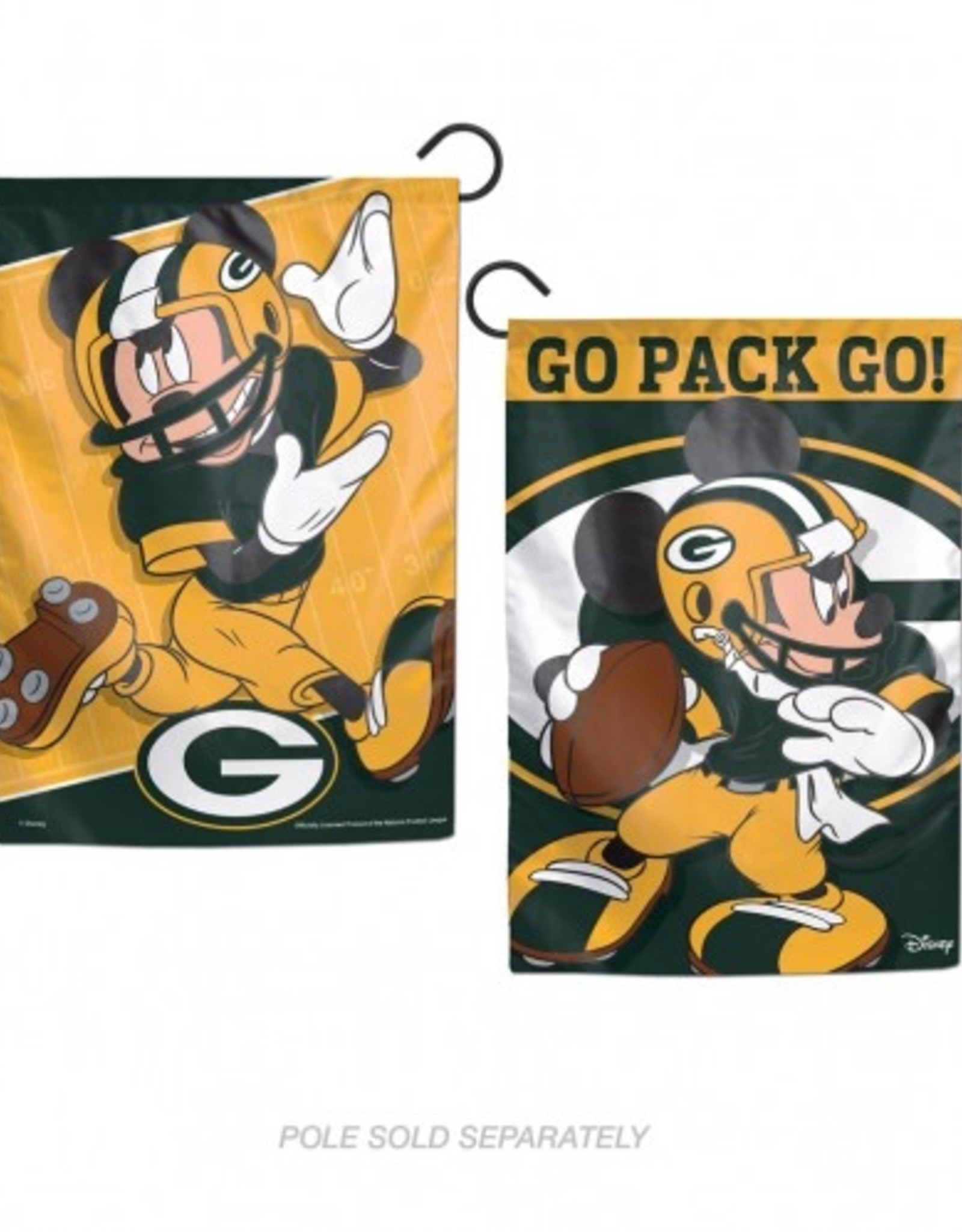 "WINCRAFT Green Bay Packers Disney Mickey Mouse 12.5"" x 18"" Garden Flag"