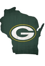 FAN CREATIONS Green Bay Packers Team Logo State Sign