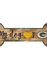 FAN CREATIONS Green Bay Packers Dog Bone Sign