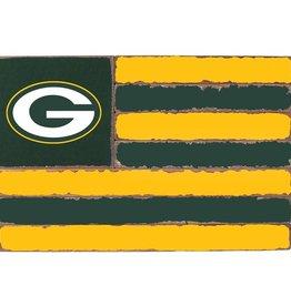RUSTIC MARLIN Green Bay Packers Rustic Team Flag