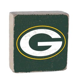 RUSTIC MARLIN Green Bay Packers Rustic Wood Team Block
