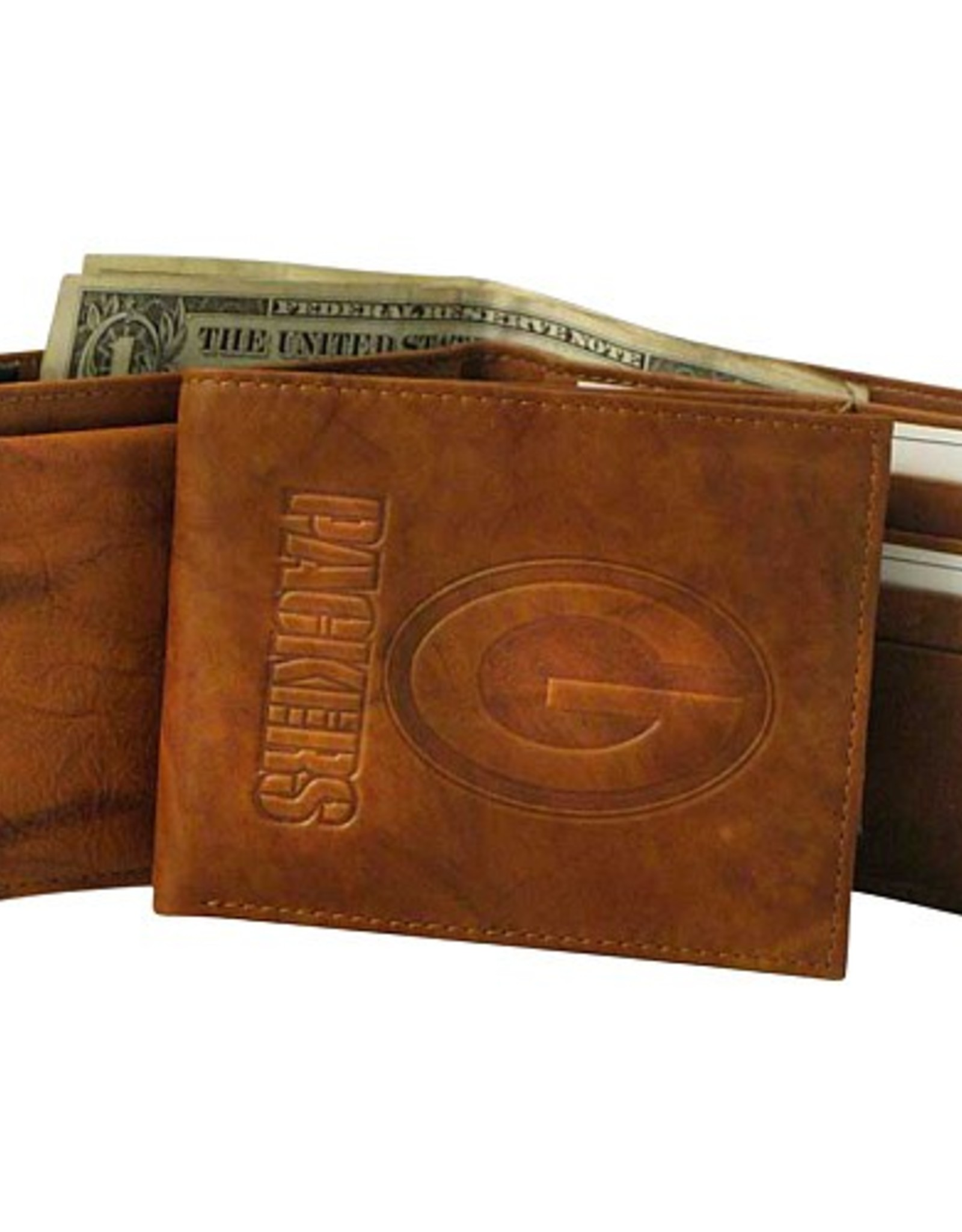 RICO INDUSTRIES Green Bay Packers Genuine Leather Vintage Billfold Wallet