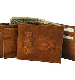 RICO INDUSTRIES Green Bay Packers Genuine Leather Vintage Billfold Wallet
