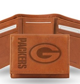 RICO INDUSTRIES Green Bay Packers Genuine Leather Vintage Trifold Wallet