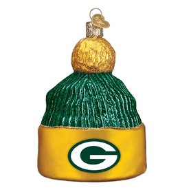 OLD WORLD CHRISTMAS Green Bay Packers Beanie Ornament