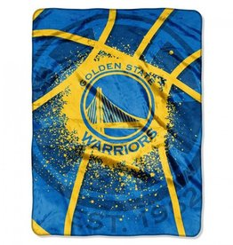 Golden State Warriors 60inx80in Shadow Play Royal Plush Raschel Throw