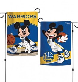 "WINCRAFT Golden State Warriors Disney Mickey Mouse 12.5"" x 18"" Garden Flag"