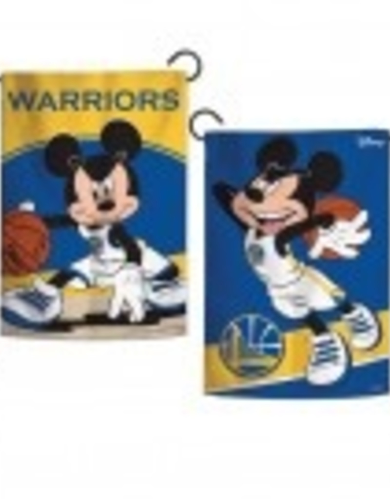 "WINCRAFT Golden State Warriors Disney Mickey Mouse 12.5"" x 18"" Garden Flag"