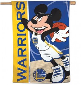 "WINCRAFT Golden State Warriors Disney Mickey Mouse 28"" x 40"" House Flag"