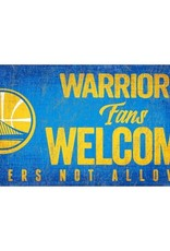 FAN CREATIONS Golden State Warriors Fans Welcome Sign