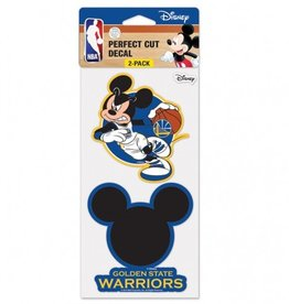 WINCRAFT Golden State Warriors Set of Two DISNEY 4x4 Perfect Cut Decals