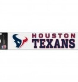 """WINCRAFT Houston Texans 4""""x17"""" Perfect Cut Decals"""