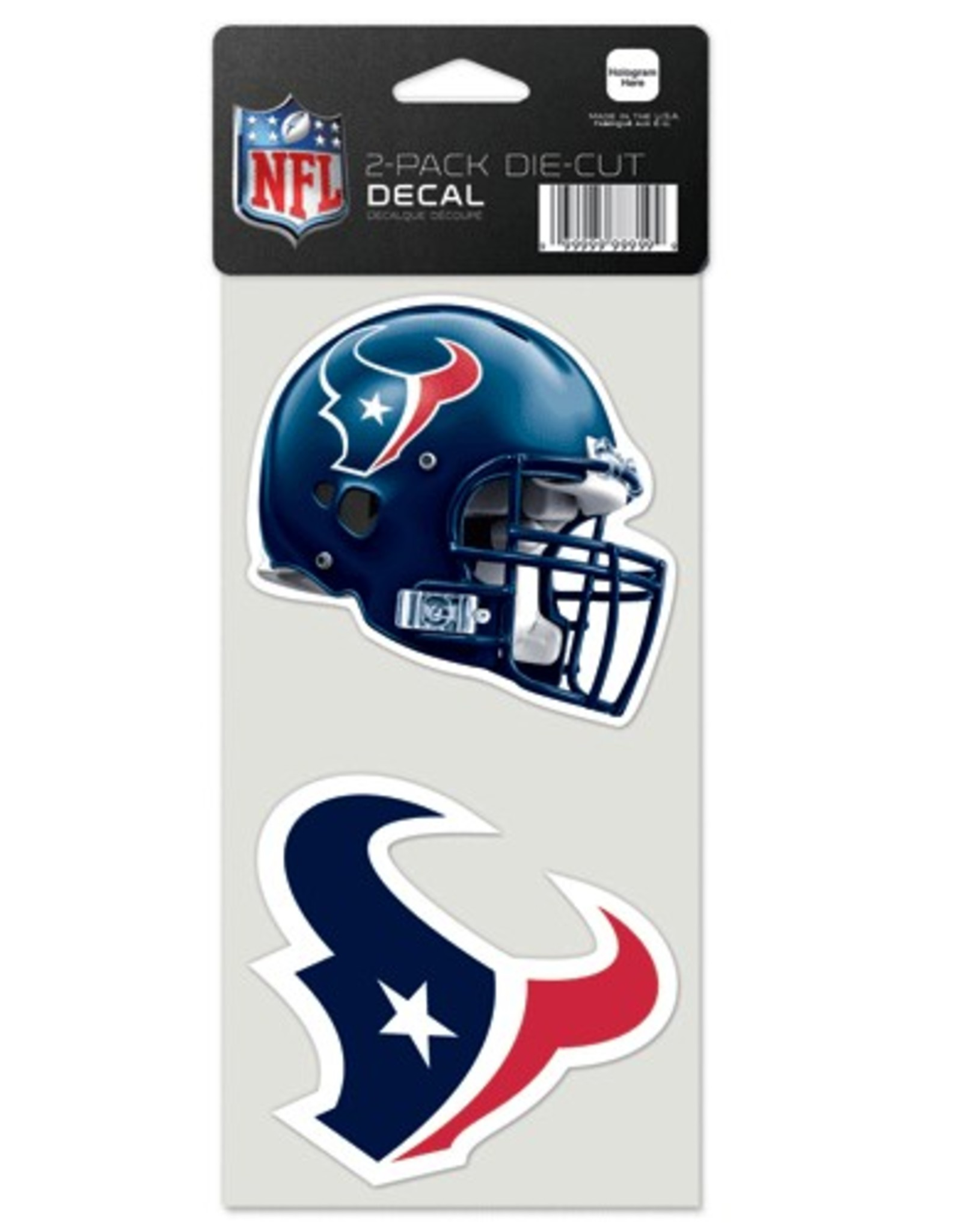 Houston Texans Set of Two 4x4 Perfect Cut Decals