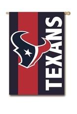 """EVERGREEN Houston Texans 28"""" x 44"""" Striped House Flag"""