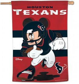 "WINCRAFT Houston Texans Disney Mickey Mouse 28"" x 40"" House Flag"