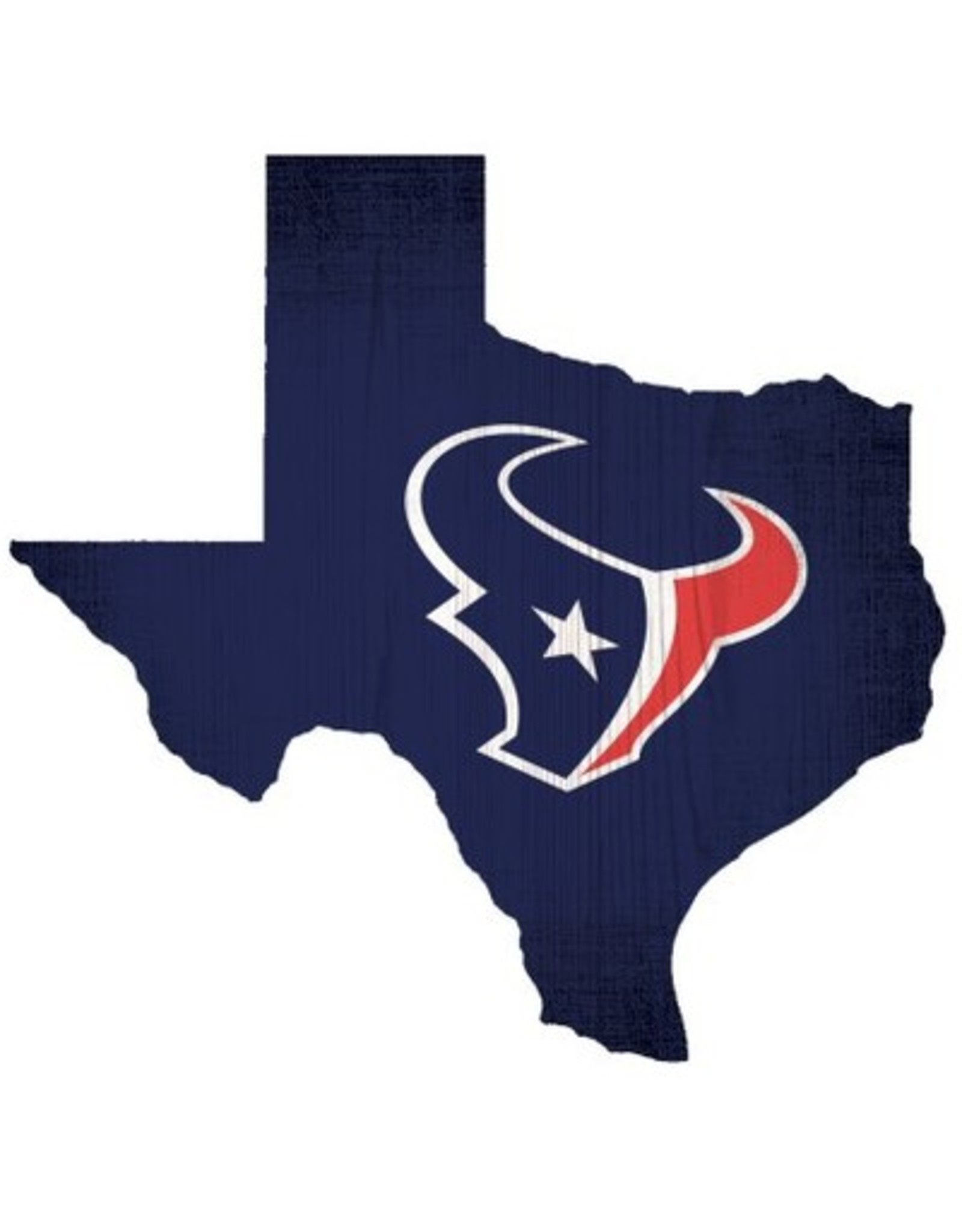 FAN CREATIONS Houston Texans Team Logo State Sign