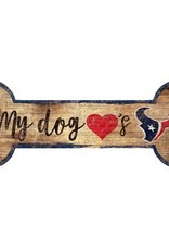 FAN CREATIONS Houston Texans Dog Bone Sign