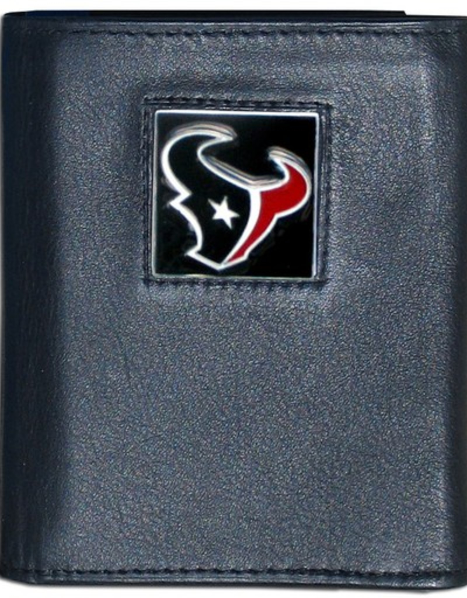 Houston Texans Executive Black Leather Trifold Wallet