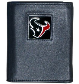 SISKIYOU GIFTS Houston Texans Executive Black Leather Trifold Wallet