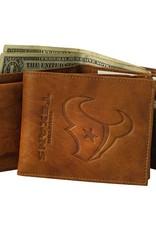 RICO INDUSTRIES Houston Texans Genuine Leather Vintage Billfold Wallet