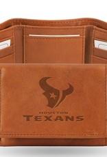 RICO INDUSTRIES Houston Texans Genuine Leather Vintage Trifold Wallet