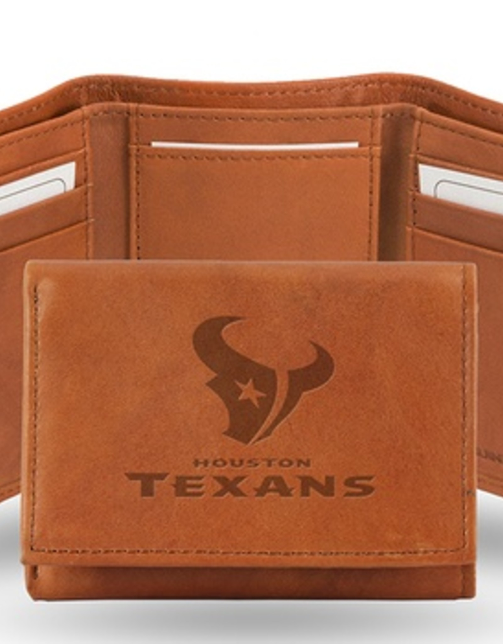 RICO INDUSTRIES Houston Texans Genuine Leather Vintage Trifold Wallet