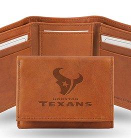 Houston Texans Genuine Leather Vintage Trifold Wallet