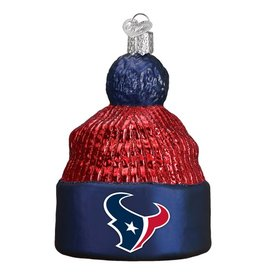 OLD WORLD CHRISTMAS Houston Texans Beanie Ornament