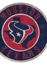 FAN CREATIONS Houston Texans Round State Sign