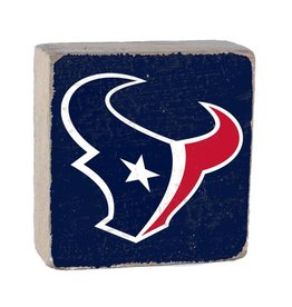 RUSTIC MARLIN Houston Texans Rustic Wood Team Block