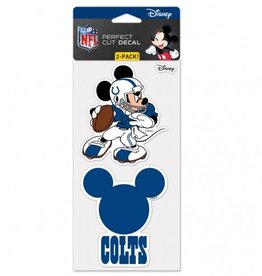 WINCRAFT Indianapolis Colts Set of Two DISNEY 4x4 Perfect Cut Decals