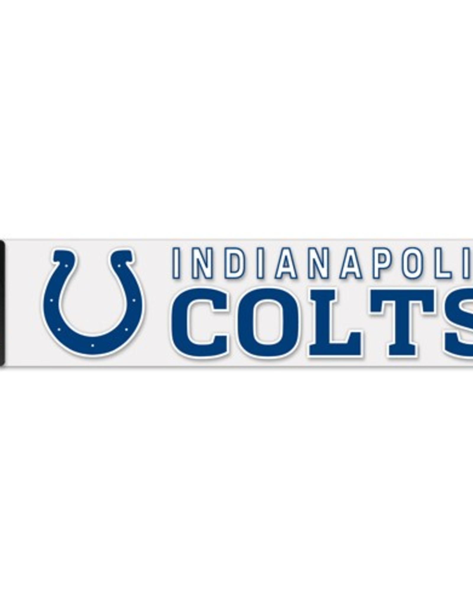 """WINCRAFT Indianapolis Colts 4""""x17"""" Perfect Cut Decals"""