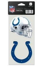 Indianapolis Colts Set of Two 4x4 Perfect Cut Decals